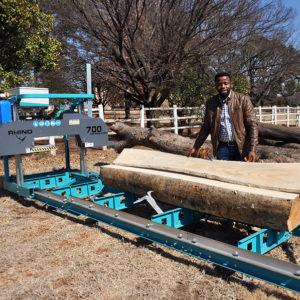 Customer with Rhino 700 Sawmill